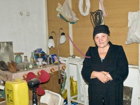 Gavkhar is a Kiva client - she sells recycled aluminum