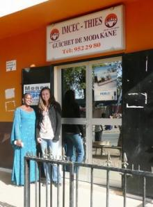 Me with Madame Baye, the new Kiva Coordinator