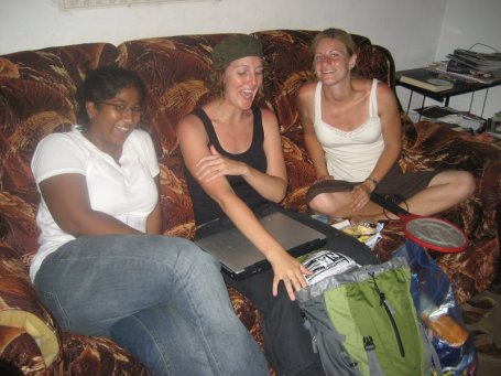 Fellows recovering from a hard day's work in Dar es Salaam