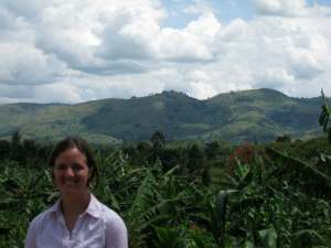 A photo of me at one of the farms in Ibanda!