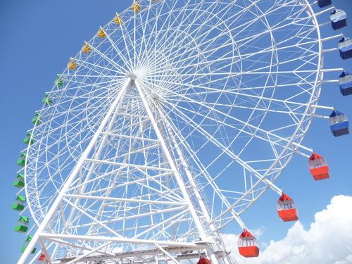 Going full circle. Ferris Wheel in Cholpon-Ata, Issyk-Kul Lake Region, Kyrgyyzstan