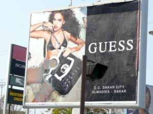 Apparently, ad execs at Guess forgot to calculate cultural differences before placing these billboards all over Dakar. Senegalese vandalists did not.