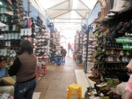 In the Mercado Modelo – one of the largest semiformal markets in Perú – there is a seemingly endless amount of organized commerce. For example, the footwear section