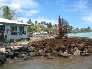 Rebuilding seawall