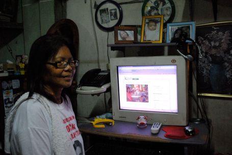 Genie Tabarangao with her Kiva Profile