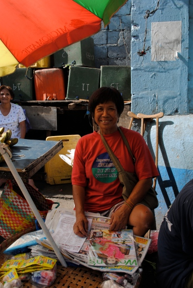 CCT Kiva Borrower Floria Espayos at Her Stand