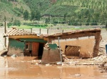Photo of an affected house in Oropesa after the Cusco floods