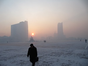 That's not fog!  The pollution in Ulaanbaatar