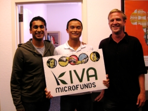 Premal, Edwin, and Matt at Kiva HQ