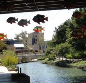San Antonio River Walk, by the art museum
