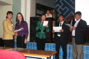 Savings Certificate Ceremony