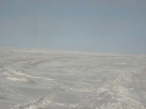 Winter roads in the Gobi