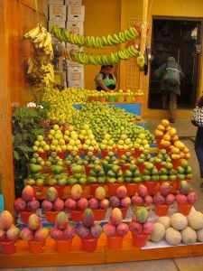 Fresh fruits in a Mexican market