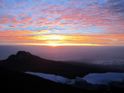 View from the Summit of Mt. Kilimanjaro, Tanzania
