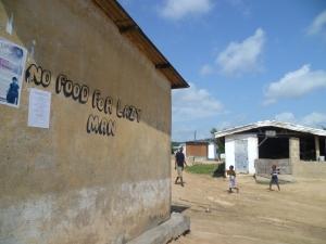 No food for lazy man- Abura, Ghana