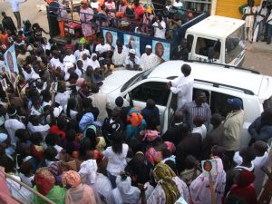 Rally for Djibril Ngom, one of the lesser-known candidates in the presidential race