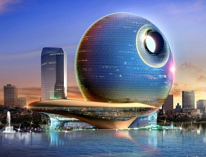 Rendering of the planned Full Moon Hotel, Baku, Azerbaijan