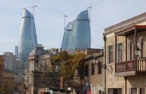 The Flame Towers, Baku, Azerbaijan