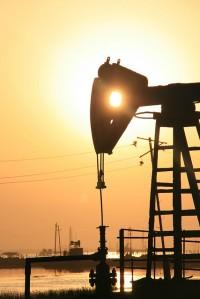 An Azerbaijan oil rig