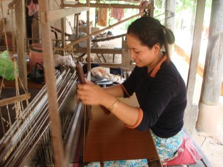 A traditional silk weaver of Koh Dach - Jen Truong, Cambodia
