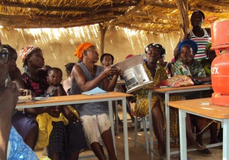 Group of women with cookstoves