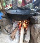 Three stone stove