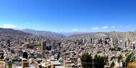 Lofty La Paz, Bolivia