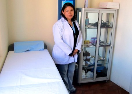 Emprender's medical clinic in La Paz, not your typical loan office (photo courtesy Clara Vreeken KF14)
