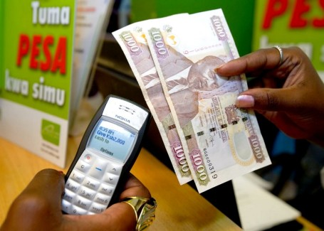 Leading-edge M-Pesa mobile payment system at work in Africa (photo courtesy afritorial.com)