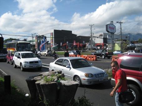 crossing the Pan-American highway