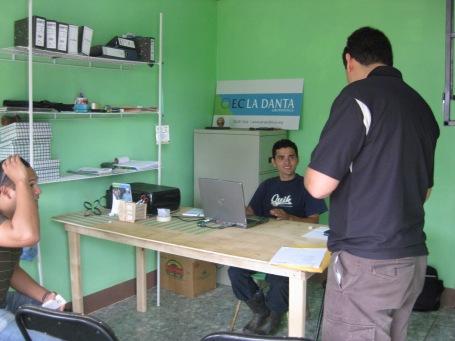 our partner's office in La Danta
