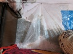 Water damage in the home of a Kiva borrower.