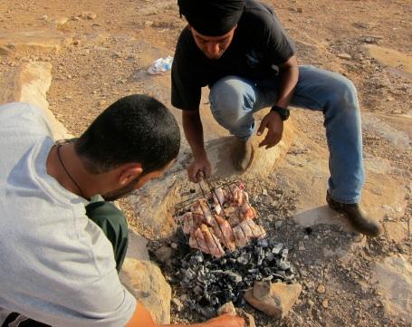 BBQ over hot coals