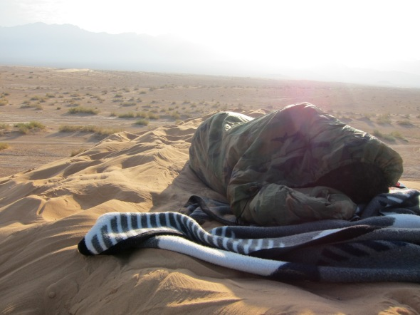 Sleeping in the desert