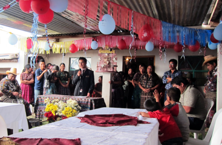 The graduation of a ADICLA intern in Sololá