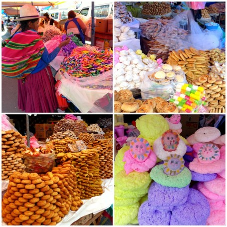 Assorted sweet breads and cookies for sale in advance of the <em>Todos Santos</em> celebrations