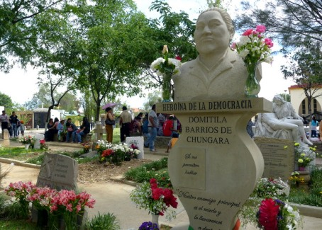 The resting place of Domitila Barrios de Chúngara, Bolivian labor leader and feminist, who died earlier this year in Cochabamba