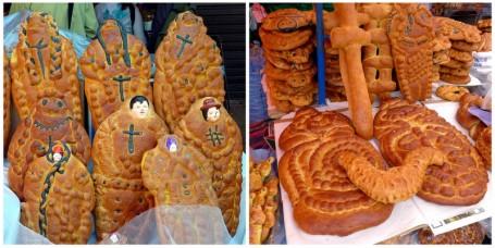 Plump <em>niños de pan</em> and wild <em>masitas</em> for sale in the local market