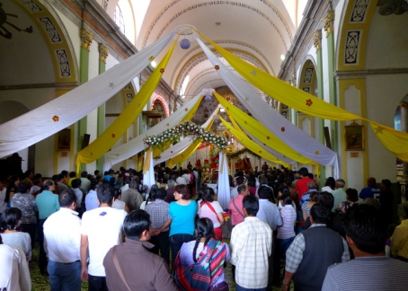 Mass for San Severino in Tarata, the administrative center for the Franciscan colonial missions in the east