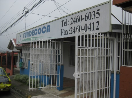 the FUNDECOCA office in Ciudad Quesada