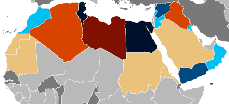 Countries of the Arab Spring (photo courtesy of Wikimedia Commons)