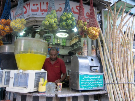 Juice vendor in Downtown Amman, Jordan