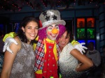 From left to right: Rose Larsen, KF19/20; Colombian clown; Kiyomi Beach, KF 17/18