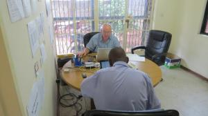 Henry Bartram, Founder and Managing Director, with a colleague at Thrive Microfinance