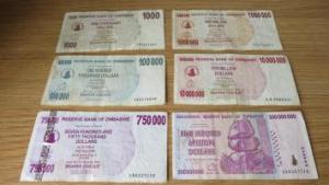 Zimbabwe dollars which are no longer legal tender