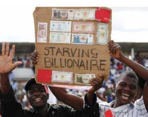 Starving billionaires in the streets of Zimbabwe a few years ago (source: lilyonthedustbin)