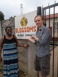 With Pamhi at the Blossoms Children Community Center in Mufakose, on the outskirts of Harare