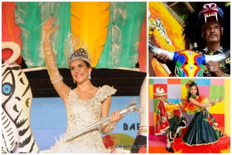 Daniela Cepeda Tarud, the Queen of Carnaval; José Llanos, the King Momo of Carnaval; Cristina Amortegui and Daniel Silguero, King and Queen of Children's Carnaval (all photos from www.carnavaldebarranquilla.org)