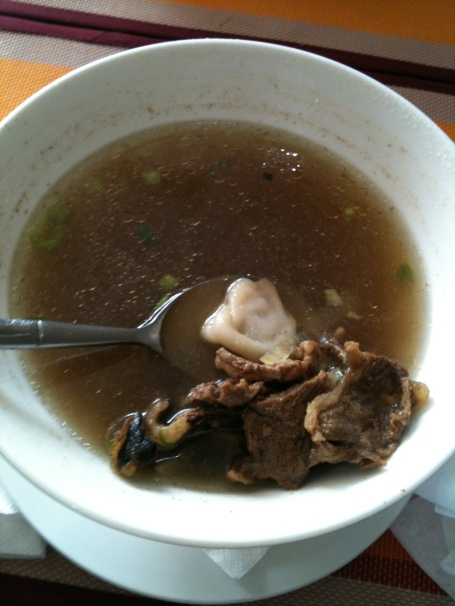 Mongolian soup with mutton and mutton dumplings