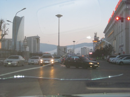 traffic is a bit crazy in UB, but the drivers are very skilled